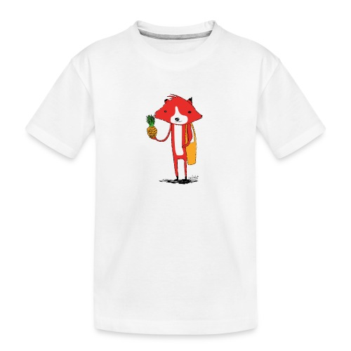 Ananasfüchslein - Teenager Premium Bio T-Shirt