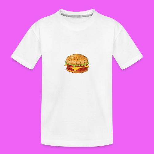 hamburguesa - Camiseta orgánica premium adolescente