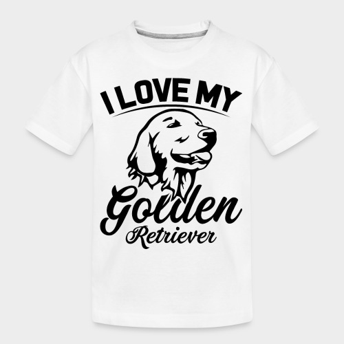 I LOVE MY GOLDEN RETRIEVER - Teenager Premium Bio T-Shirt