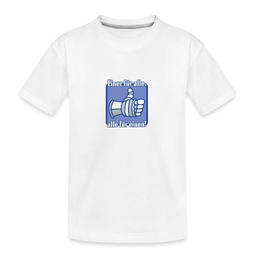Kinder Langarmshirt - Einer für alle, alle für e - Teenager Premium Bio T-Shirt