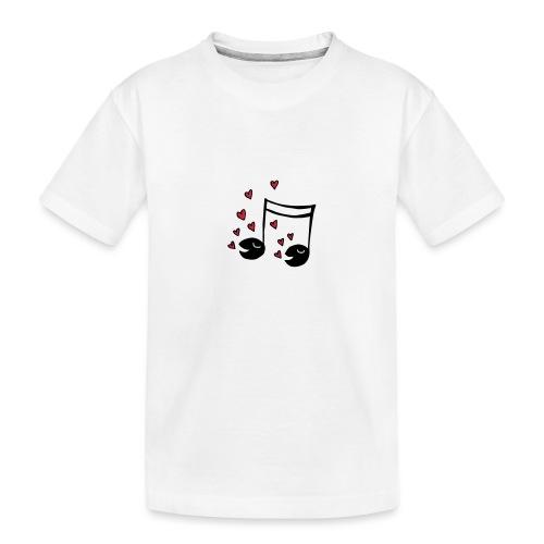 Love tunes - Teenager Premium Bio T-Shirt