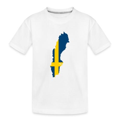 Sweden - Teenager premium biologisch T-shirt