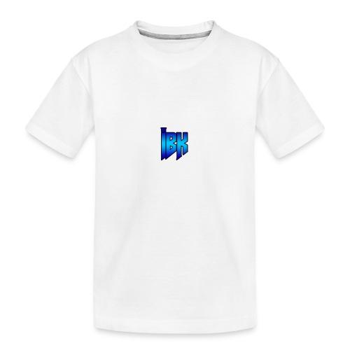 T-SHIRT MET LOGO OP - Teenager premium biologisch T-shirt