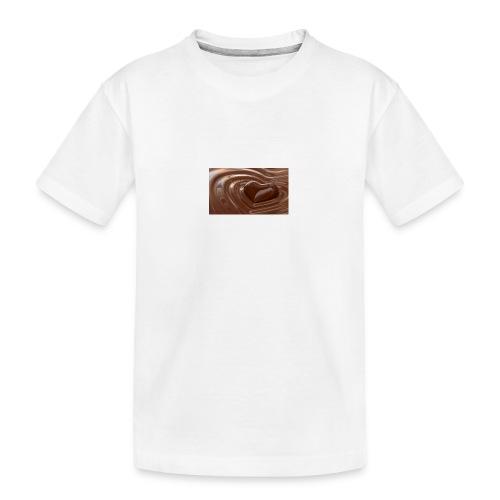 Choklad T-shirt - Ekologisk premium-T-shirt tonåring