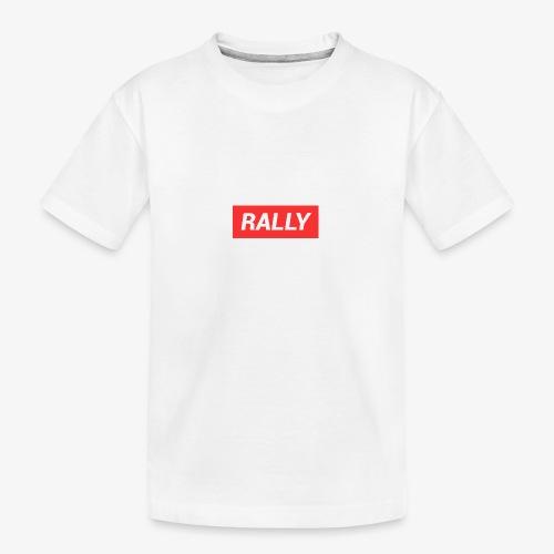 Rally classic red - Ekologisk premium-T-shirt tonåring
