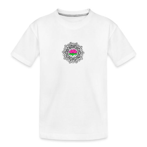 Lotus Flower Mandala - Teenager Premium Organic T-Shirt