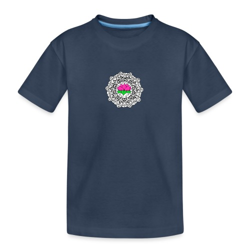 Lotus Flower Mandala - Teenager Premium Organic T-Shirt
