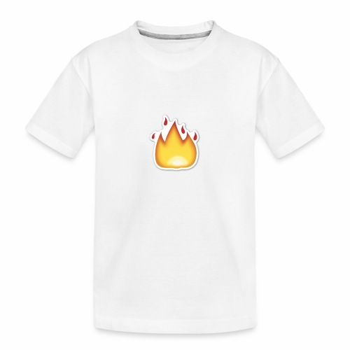 Liekkikuviollinen vaate - Teinien premium luomu-t-paita