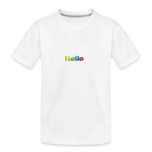 Hello - Ekologiczna koszulka młodzieżowa Premium