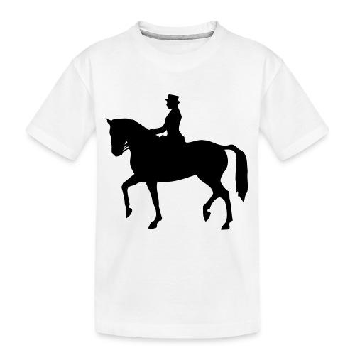 Dressuur 1C - Teenager premium biologisch T-shirt