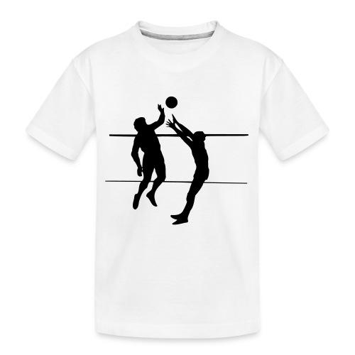 Volleybal Wedstrijd 1C - Teenager premium biologisch T-shirt