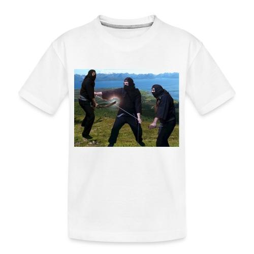 Chasvag ninja - Premium økologisk T-skjorte for tenåringer