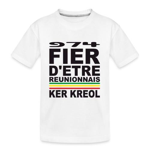 974 ker kreol fier et culture - T-shirt bio Premium Ado