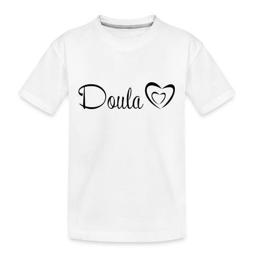 doula polkuna sydämet - Teinien premium luomu-t-paita