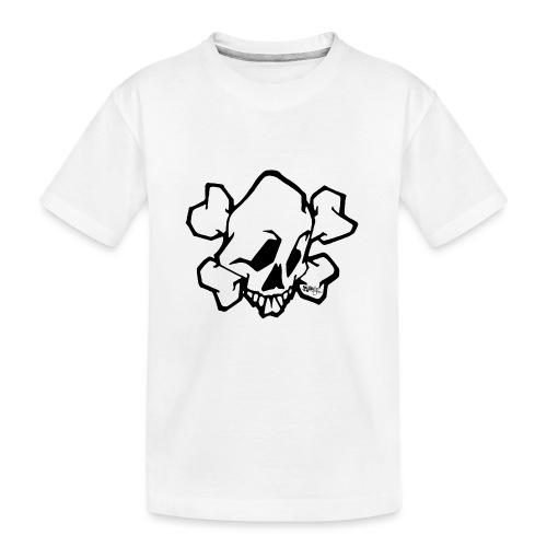 Graffiti Skull - Teenager premium T-shirt økologisk
