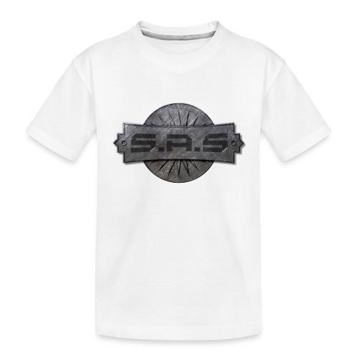 metal background scratches surface 18408 3840x2400 - Teenager premium biologisch T-shirt