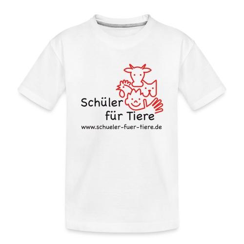Logo Farbe (2x) - Teenager Premium Bio T-Shirt
