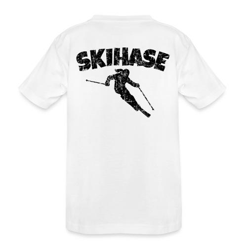Skihase (Vintage/Schwarz) Ski Skifahrerin - Teenager Premium Bio T-Shirt
