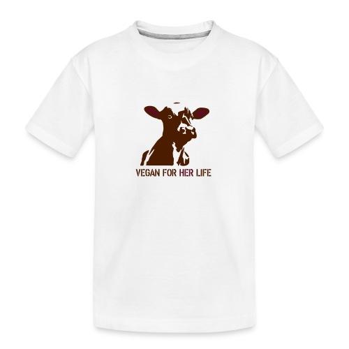 vegan for her life - Teenager Premium Bio T-Shirt