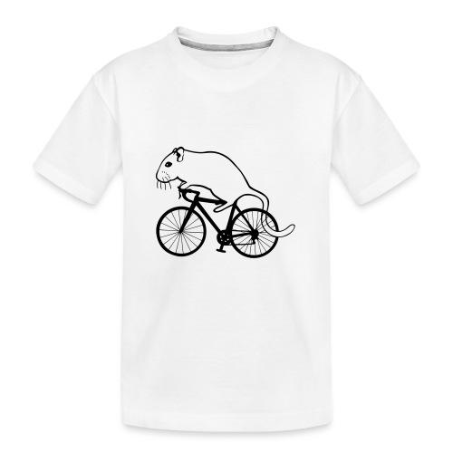 Rennmaus auf Rennrad - Teenager Premium Bio T-Shirt