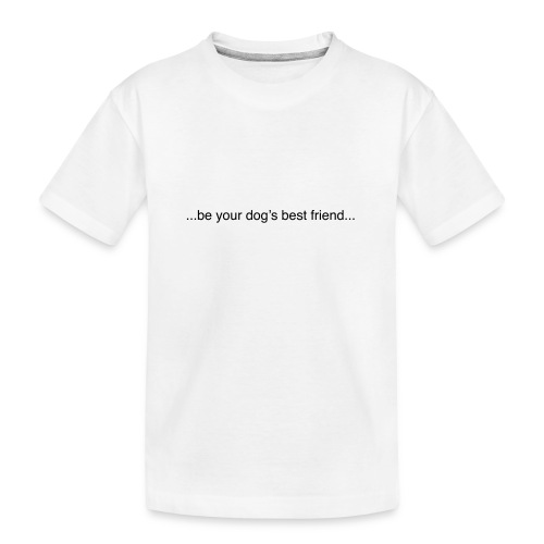 GoodBad svart CMYK (1) - Teenager Premium Organic T-Shirt