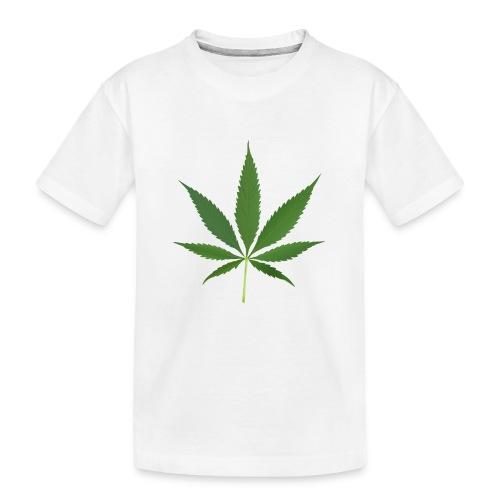 2000px-Cannabis_leaf_2 - Teenager premium T-shirt økologisk