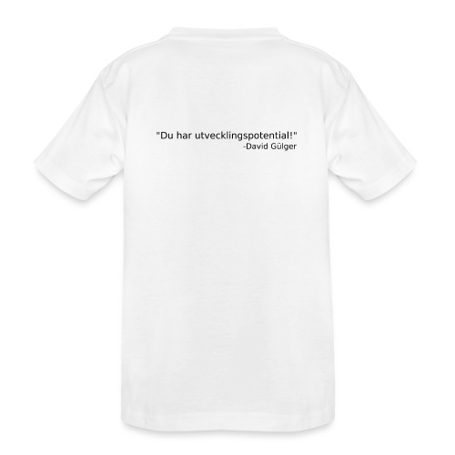Ju jutsu kai förslag 1 version 1 svart text - Ekologisk premium-T-shirt tonåring