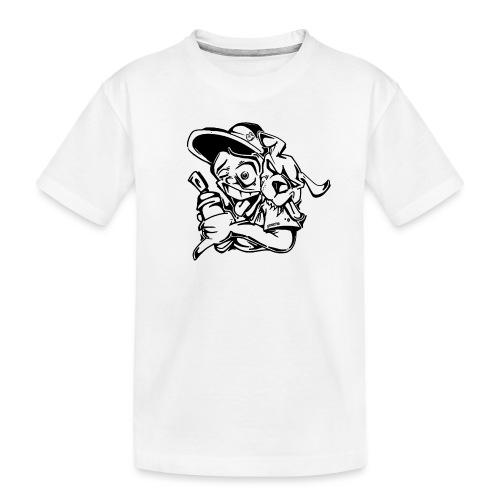 k9 graffiti tour ver0 1 - Teenager premium T-shirt økologisk