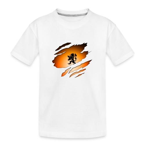 Dutch Inside: Leeuw - Teenager premium biologisch T-shirt