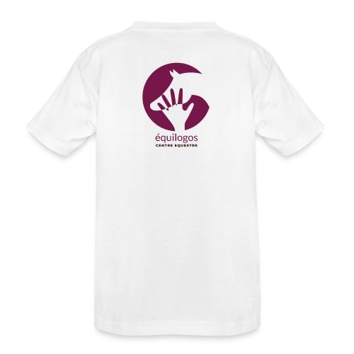 Logo Equilogos centre équestre noir - T-shirt bio Premium Ado