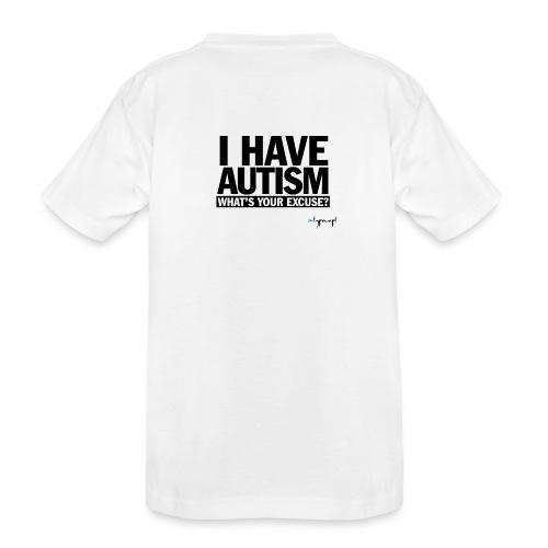 I have autism... (black) - Ekologiczna koszulka młodzieżowa Premium