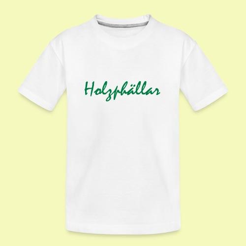 Schriftzug Grün - Teenager Premium Bio T-Shirt