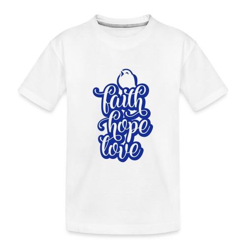 typo kinder 2016outline c - Teenager Premium Bio T-Shirt