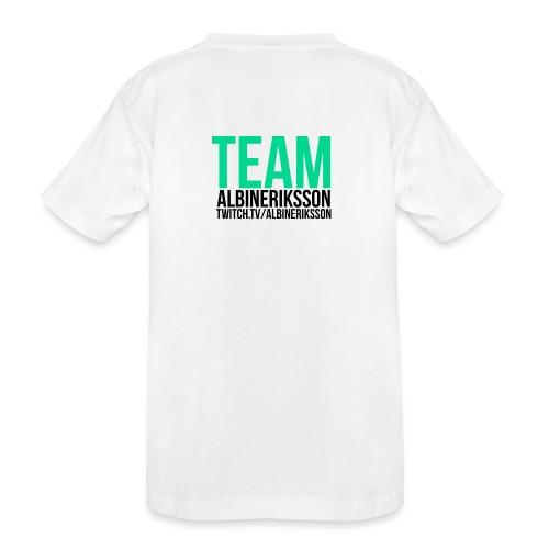 Team albinerikss0n Svart - Ekologisk premium-T-shirt tonåring