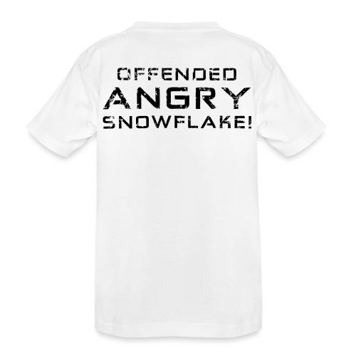 Black Negant logo + OFFENDED ANGRY SNOWFLAKE! - Teenager premium T-shirt økologisk