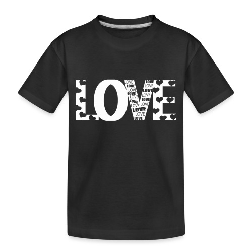 Love mit Herzchen - Teenager Premium Bio T-Shirt