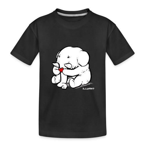Stef 0002 00 Lesefant - Teenager Premium Bio T-Shirt