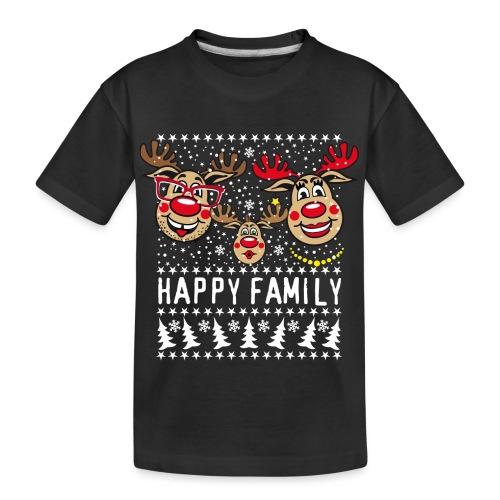 94 Hirsch Rudolph HAPPY FAMILY Papa Mama Kind - Teenager Premium Bio T-Shirt