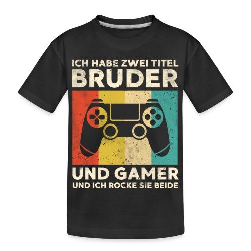 Bruder Gamer Gaming Junge Geschenk Sohn - Teenager Premium Bio T-Shirt