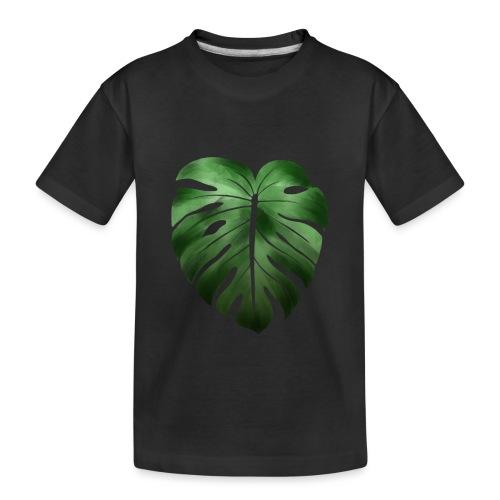 Foglia dalla Natura - Maglietta ecologica premium per ragazzi