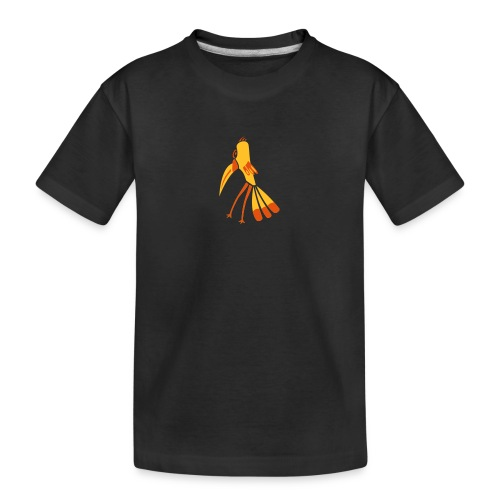 Gelb-Schnabel-Vogel - Teenager Premium Bio T-Shirt