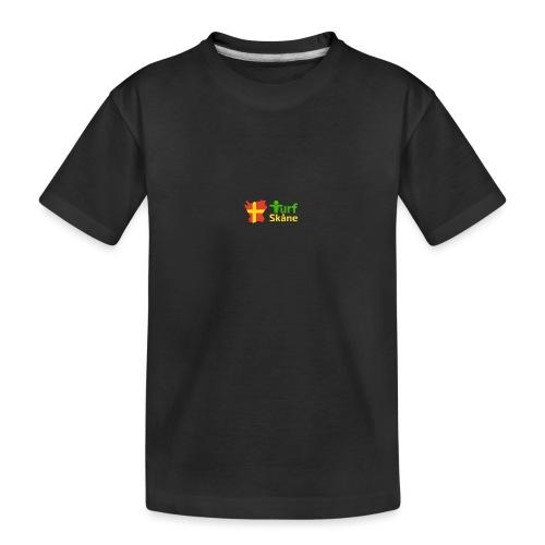 Turf Skåne Logo gul - Ekologisk premium-T-shirt tonåring