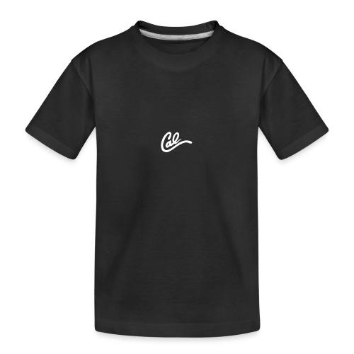 Cal logo - Teenager premium biologisch T-shirt