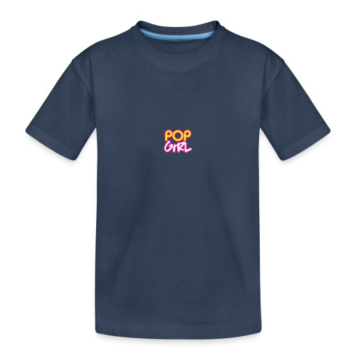 Pop Girl logo - Teenager Premium Organic T-Shirt