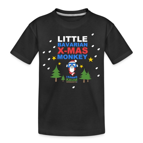 Little Bavarian Monkey I kanns kaum derwarten! - Teenager Premium Bio T-Shirt