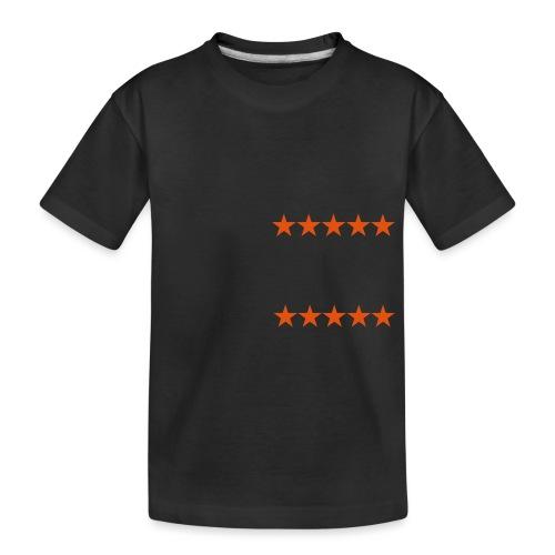 ratingstars - Teinien premium luomu-t-paita