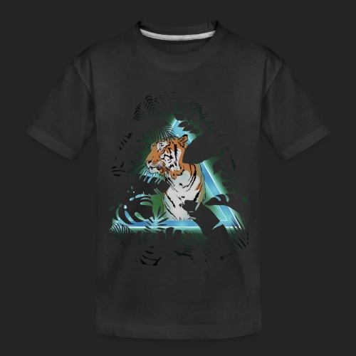 Tigre en soirée - T-shirt bio Premium Ado