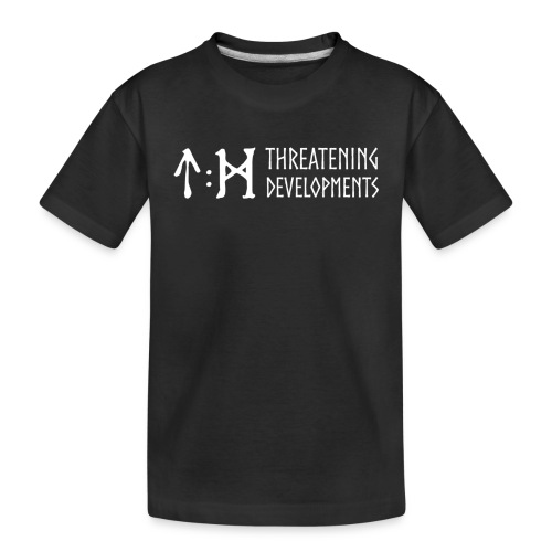 Threatening Developments White Logo - Teenager Premium Organic T-Shirt