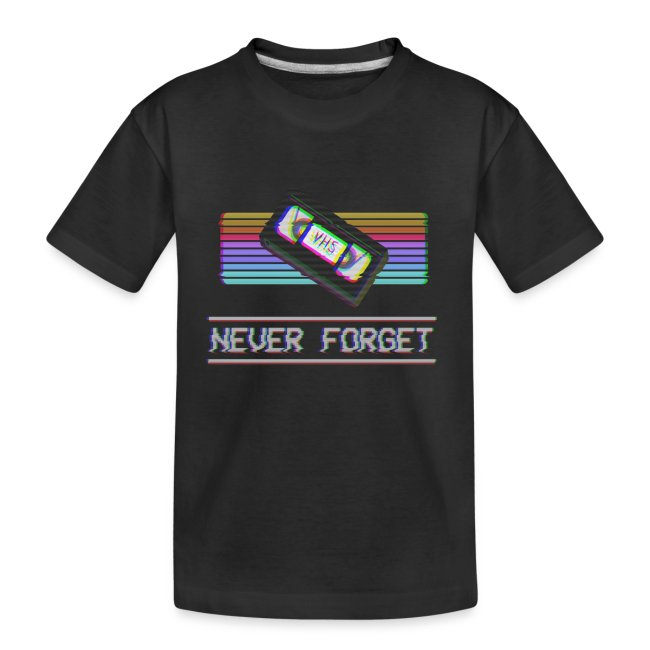 Never Forget VHS VCR Tape Retro Vintage 80s 90s