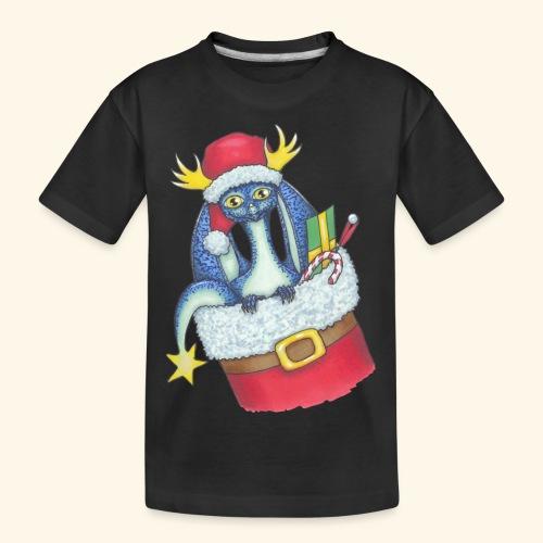 Juldrake - Ekologisk premium-T-shirt tonåring